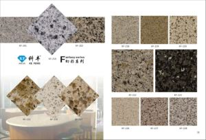 Fantasy Kf-216 Granite Color Solid Kitchen Surface 3200*1650mm Engineered Quartz Stone Slab pictures & photos