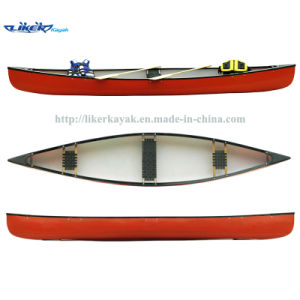 Fishing Boat Canadian Canoe Three Seats Fishing Leisure Sport Canoe LLDPE Kayak pictures & photos