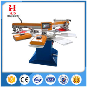 2 Colors Automatic Screen Printing Machine with Round Shape pictures & photos