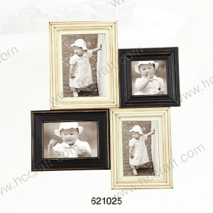 Wooden Photo Frame with Laser in Multiple Opening pictures & photos