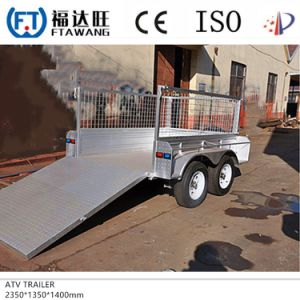 Galvanized Box Cargo Semi Trailer Flatbet Container Semi Trailer pictures & photos