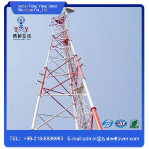 Self Supporting Three Legs Pipe Telecommunication Steel Tower pictures & photos