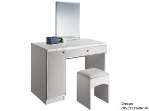 Oppein Modern Melamine Board White Dresser with Leather (ZT21140A100) pictures & photos