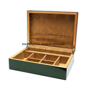 Dark Green Snakeskin Print Wood Jewelry Box High Quality pictures & photos