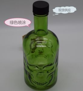 700ml Wholesale Glass Vodka Bottle, Wine Container, Skull Design Package pictures & photos