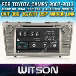 Witson Car DVD for Toyota Camry 2007-2011 Car DVD GPS 1080P DSP Capactive Screen WiFi 3G Front DVR Camera pictures & photos