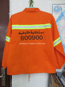 High Visible Safety Jacket with Reflective Tape Workwear pictures & photos