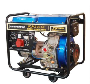 hand start portable3 Phase Diesel Generator 5.5kva  (KDE6500X3) pictures & photos