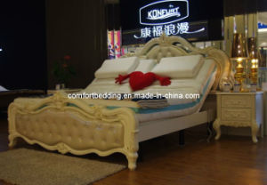 European Style Electric Bed Adjustable Bed with LED Function pictures & photos