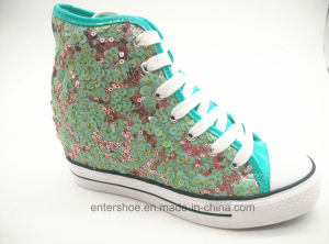 Akua Sequins Women in Elevator Shoes with Rubber Sole (ET-LD160342W) pictures & photos
