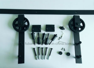 Country Style Steel Arrow Type Interior Sliding Barn Door Hardware Kit pictures & photos
