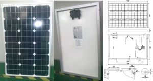 18V 60W Monocrystalline Solar Panel PV Module with Ce Approved pictures & photos