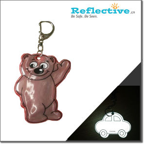 Soft Reflector Plastic Badges with Keychain or Ball Chain (Ylt903) pictures & photos