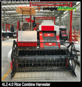 Rubber Tractor 4lz-4.0 Wheat Reaper Harvester pictures & photos