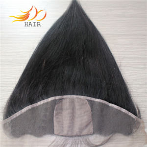 100% Malaysian Remy Hair Natural Color Silk Base Lace Frontal pictures & photos