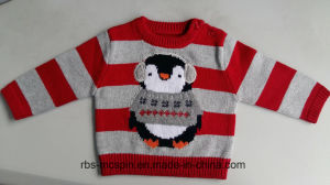Kids Sweater Intarsia Penguin Jumper for Boys pictures & photos