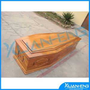 Flat Packed Wooden Coffins Casket for American Style pictures & photos