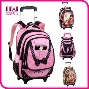 """Little Children 14"""" Trolley Backpack Travel Bag with Rolling Wheels&Handle Wheeled Luggage Backpack"""