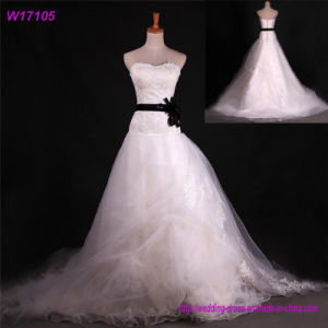 2017 Dress Woman with Tassels, Wedding Dress Plus Size, Fashion Strapless Dress for Lady pictures & photos