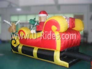Inflatable Santa Claus cartoon with Deer Car pictures & photos