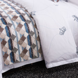 Soft Luxury Cotton Hospital Printed Bedspread pictures & photos