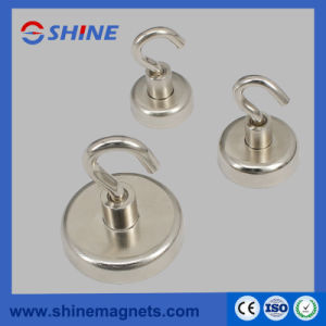 Flat Magnetic Pot with Hook pictures & photos