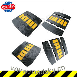 Roadway Safety Reflective Durable Parking Rubber Cable Speed Hump pictures & photos