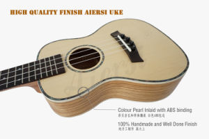 Aiersi Solid Spruce Top Concert Ukulele for Adults pictures & photos
