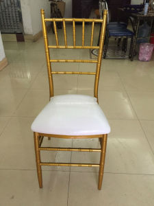 Fixed Soft Seat Metal Wedding Events Tiffany Chiavari Chair (JY-J03) pictures & photos