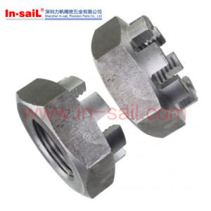 Hexagon Slotted Castle Nuts Thin Type DIN979 pictures & photos