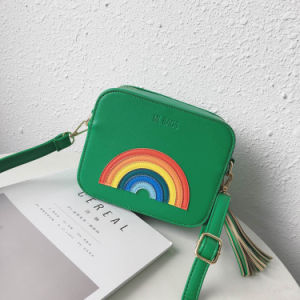 2017 Fashion New Female Bag Korean Fashion Three-Dimensional Rainbow Small Square Package Trend Female Messenger Shoulder Bag pictures & photos