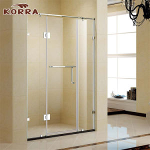 8/10mm Tempered Glass Shower Screen with One Hinged Door pictures & photos