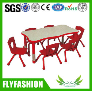 Adjustable Children Furniture School Table with Plastic Chairs (SF-18C) pictures & photos