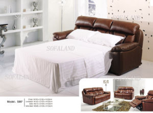 Dark Brown Color Leggtt & Platt Brand Mechanism Sofabed pictures & photos
