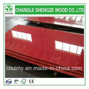 Furniture Grade 18mm Red Color UV MDF pictures & photos