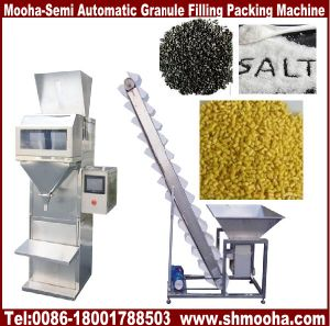 Semi Automatic Granule/Nuts/Rice/Grain Bag Bottle Filling Machinery pictures & photos