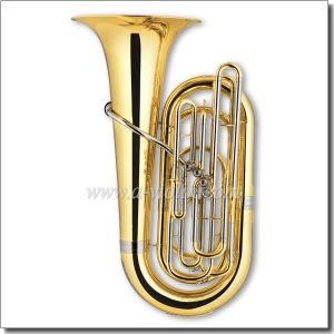 Bb Key Gold Lacquer 4 Valves Piston Tuba (TU9902) pictures & photos