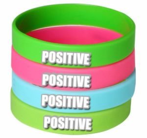 Promotional Silicone Bracelet with Embossed Logo pictures & photos
