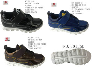 No. 50135 Three Colors Kid′s Sport Stock Shoes pictures & photos