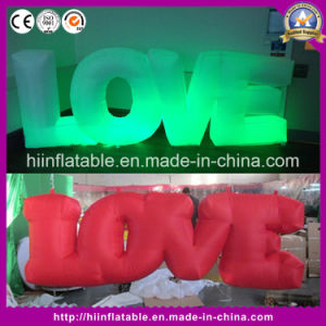 Wedding Valentine′s Day Inflatable Lighting Decoration Giant Inflatable Letter Love pictures & photos
