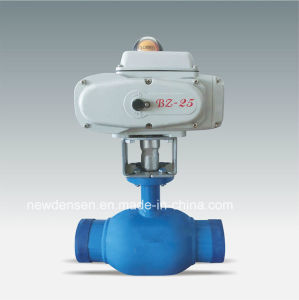 High Quality Fully Welded Electric Actuator Water Valve pictures & photos
