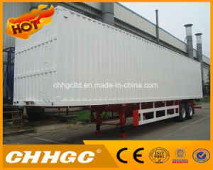 3 Axles Curtain Van Tailer in Truck Semi Trailer or Semi-Trailer Truck pictures & photos