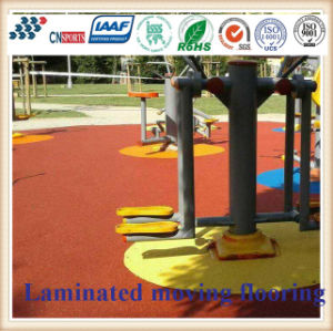 Cn-S06 EPDM Rubber Granules Flooring for Kids Playground pictures & photos