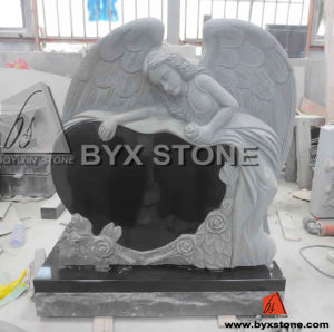 Carved Angel Monument Granite Headstone with Heart Memorial pictures & photos