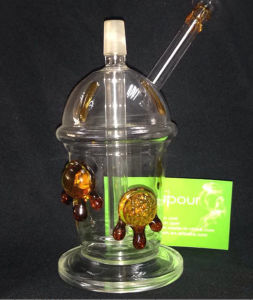 Oil Rig Water Pipe Amber Tortoise Dabcano Cup Glass Pipe pictures & photos