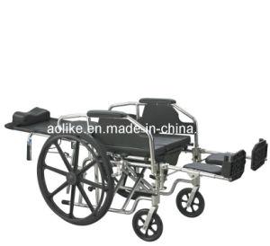 Funcational Commode Wheelchair (ALK608LBGC) pictures & photos