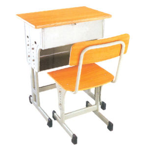 Durable Single Wooden School Desk