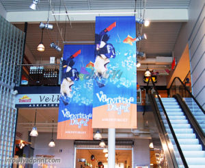 Full Color Printing PVC Vinly Ceiling Hang Banner For Surpermarket pictures & photos