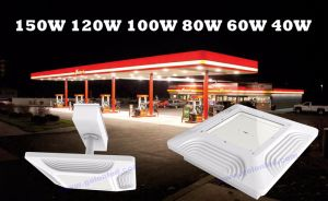 Recessed Ceiling Mounting Lighting 60W 80W 100W 120W 150W Canopy Lights Manufacturer Explosion Proof LED Gas Station Light pictures & photos