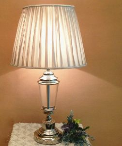 Phine 90195 Clear Crystal Table Lamp with Fabric Shade pictures & photos